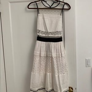 Small White broderie midi dress